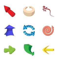 Cursor icons set cartoon style vector image
