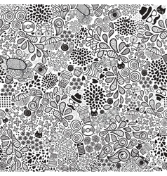Cute cartoon doodle hipster seamless pattern vector image