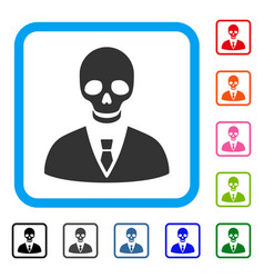 Deadly manager framed icon vector