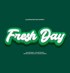 Deep green and white text effect style design vector