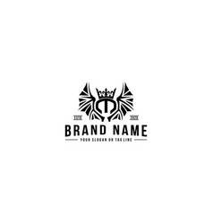 Design logo letter m vintage style vector
