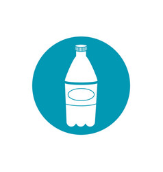 drinks plastic bottle soda refreshment blue block vector image