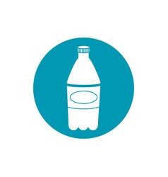Drinks plastic bottle soda refreshment blue block vector