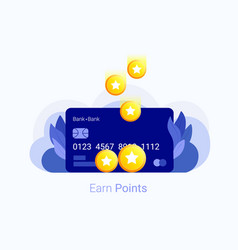 Earn points concept vector