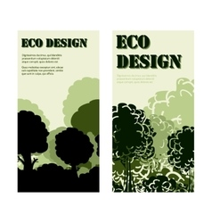Eco design banners with forest vector image