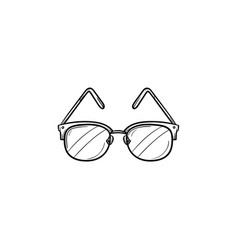 eyeglasses hand drawn outline doodle icon vector image
