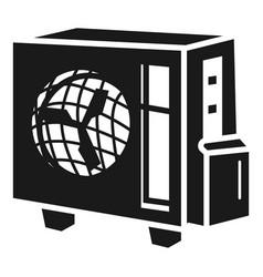 fan conditioner icon simple style vector image