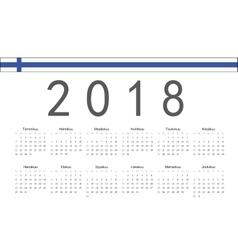Finnish 2018 year calendar vector image
