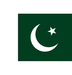 Flag of Pakistan in correct proportions and colors vector
