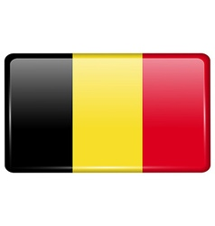 Flags Belgium in the form of a magnet on vector