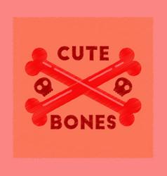 flat shading style icon cross bones vector image