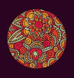 Flower mandala art nature decoration vector