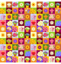 Flower shop pattern vector