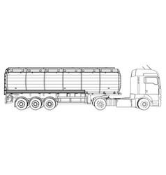 Gasoline tanker oil trailer eps 10 format vector