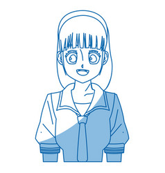 Girl teenager anime manga character vector