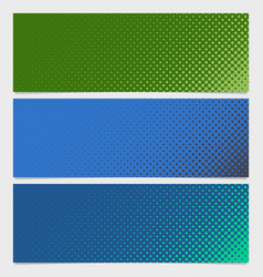 Halftone dot pattern banner design vector