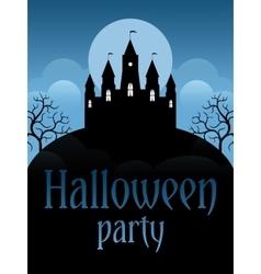Halloween party flyer vector image