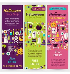 Halloween Party Holiday Invitation Template Flyer vector