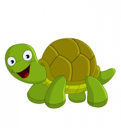 happy turtle vector image