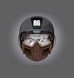 Helmet antiknock helmet motorcycle big bike vector