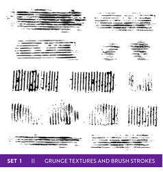 ink brush strokes grunge paint splatters vector image