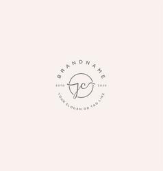 Jc letter feminine logo design vector