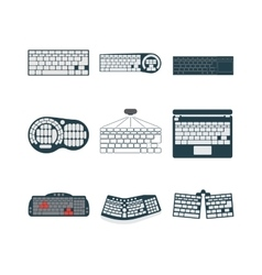 Keyboard icons set vector image