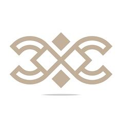 Logo Abstract Icon Circle Square Design vector image