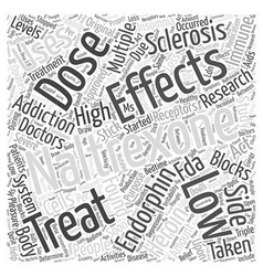 Low Dose Naltrexone and Multiple Sclerosis Word vector