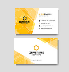 modern abstract yellow business card vector image