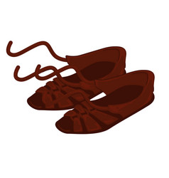 Old greek shoes ancient footwear and fashion vector