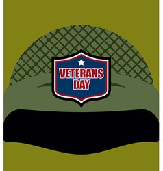 Patriot day Emblem on soldiers helmet Military vector image
