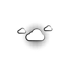 pop art cloud on a vintage background vector image
