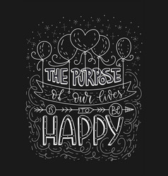 positive lettering card vector image