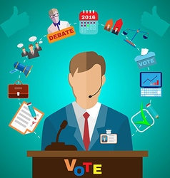 Presidential Debates Icons vector