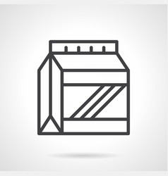 Protein powder pack simple line icon vector