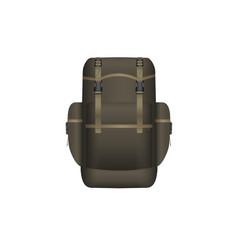 realistic khaki backpack vector image