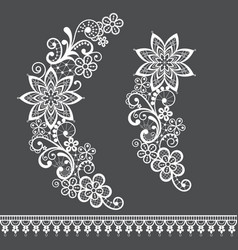 retro lace half wreath single pattern vector image