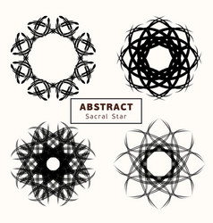 sacred star 0004 vector image
