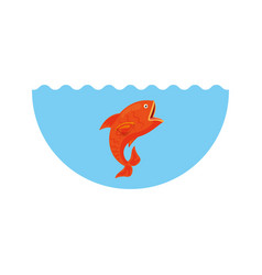 sea fish isolated icon vector image