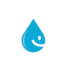 Smile drop water vector