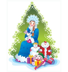 snow maiden vector image