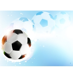 Soccer ball on blue background vector image