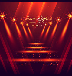 Spot lights stage enterance background vector