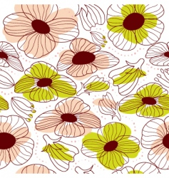 springtime floral seamless pattern vector image