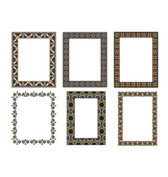 square elegant frame collection vector image