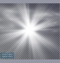 Star and fog or smog on a transparent background vector