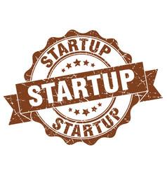 startup stamp sign seal vector image