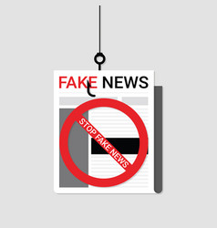 stop fake news concept vector image