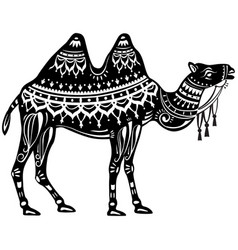 The stylized figure of camel vector